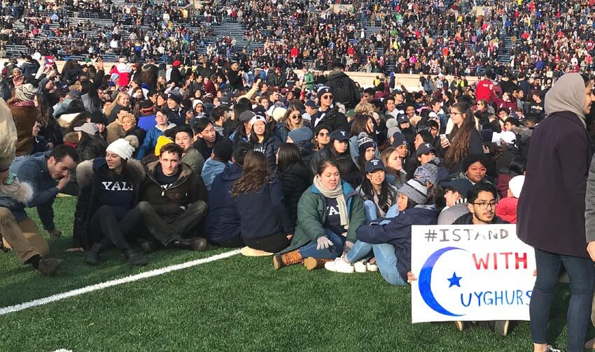 Mob at Harvard Yale Football Match