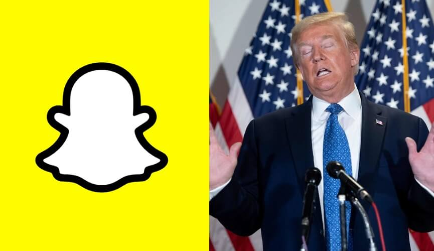 Snap removed Donald Trump's account